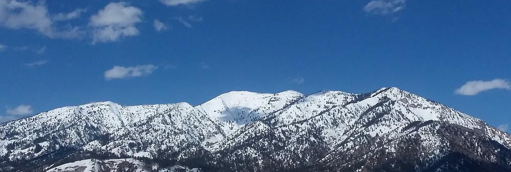 Snowy mountains near Thayne, Wyoming