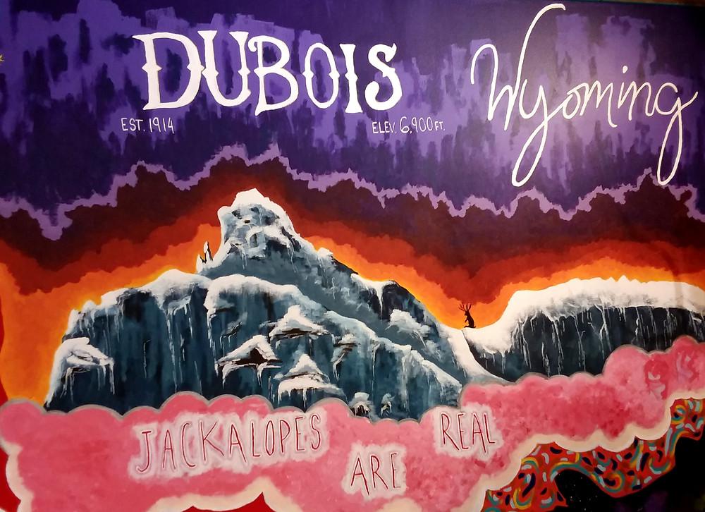 Jackalope mural from Jackalope Exhibit in Dubois, Wyoming