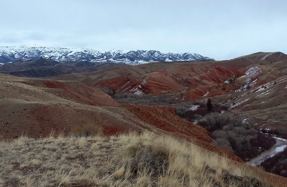 Hills and mountains near small remote town of Dubois, Wyoming