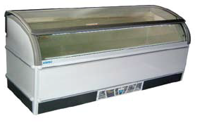 2.2m Curved Glass Display Freezer 2.2m冷凍趟門玻璃展示櫃