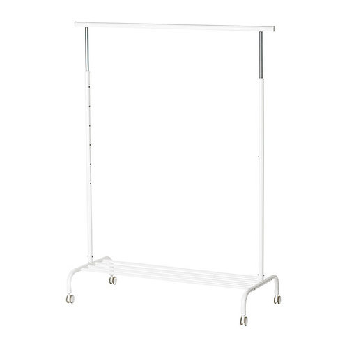 White Clothing Rail with wheels