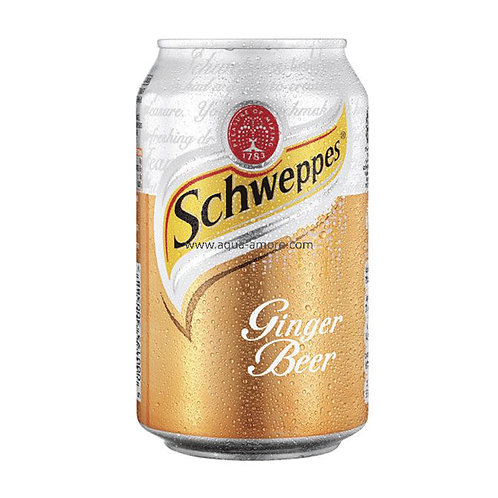 Case of 24 x 330ml cans Schweppes Ginger Beer 玉泉姜啤