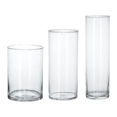 Glass cylinder vase 玻璃花瓶