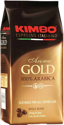 Kimbo Espresso Gold 100% Arabica Coffee Bean/Ground Coffee