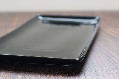 Black platter/plate 33cm x 16cm 黑瓷方碟