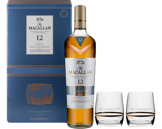 Macallan 12 Year Old - Double Cask - 2 Glasses Gift Pack