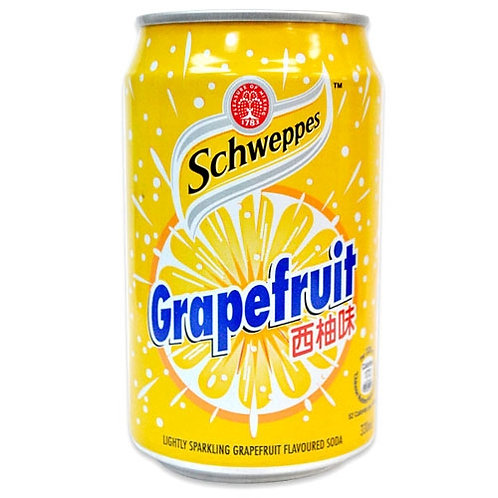 Case of 24 x 330ml cans Schweppes Grapefruit 玉泉西柚