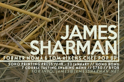 James Sharman  Pop-Up Restaurant