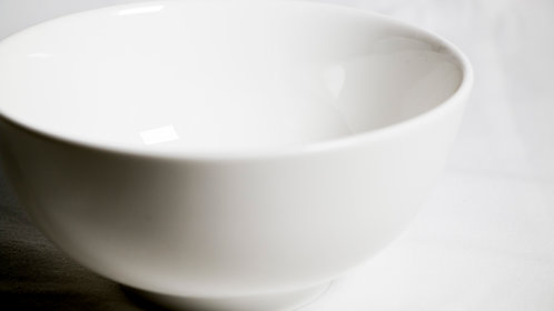 White coupe cereal/soup bowl 白瓷湯碗