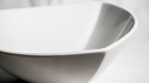 White large salad bowl triangle 白瓷大沙律碗