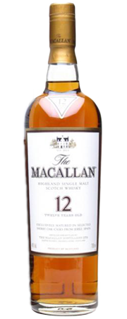 The Macallan Sherry Oak 12 Years Old Single Malt Scotch Whisky 70cl