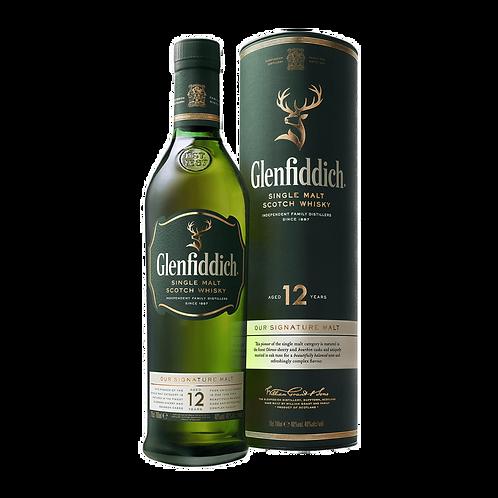 Glenfiddich 12 Years Old Single Malt Scotch Whisky 70cl