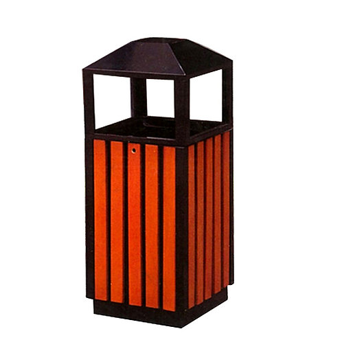 Outdoor rubbish bin with ash tray 室外用垃圾桶
