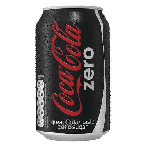 Case of 24 x 330ml cans Coke Zero 無糖可樂