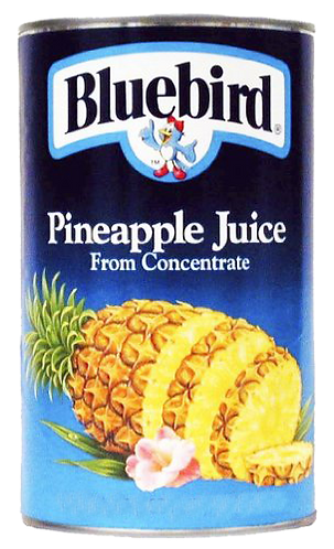 Blue Bird Pineapple Juice - can 48x6oz