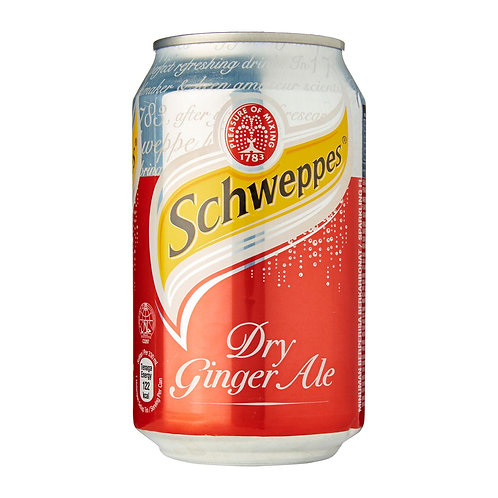 Case of 24 x 330ml cans Schweppes Ginger Ale 玉泉干薑水