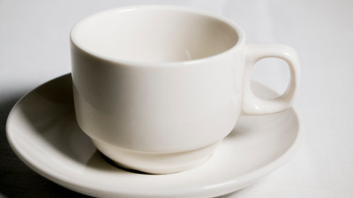 Stackable tea/coffee cup and saucer set 茶/咖啡杯連碟套裝