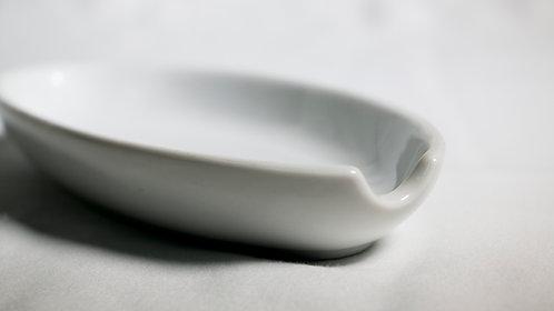 White tong/ladle holder 白瓷湯殼托盆