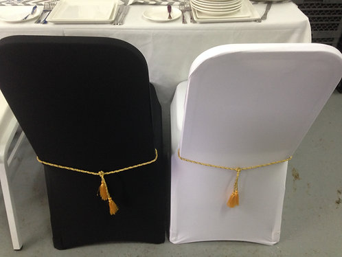 Banquet chairs with Gold Chain 宴會椅連椅套及金繩