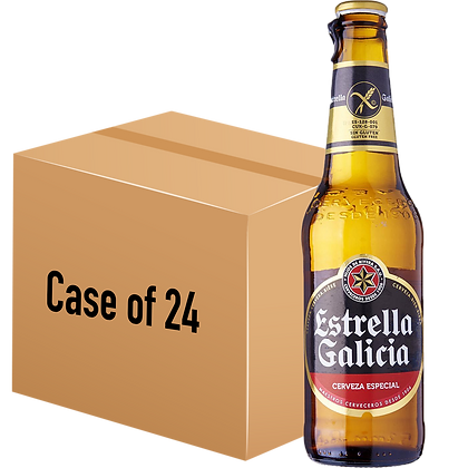 Estrella Galicia Gluten-Free Lager (Case of 24 x 330ml Bottle