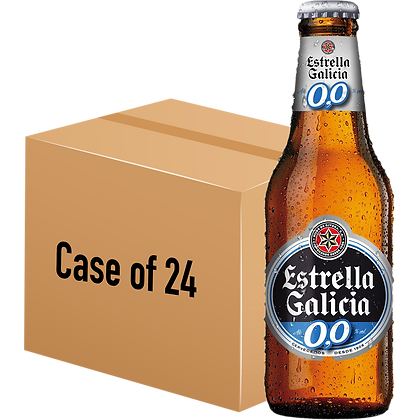 Estrella Galicia Lager 0.0% (Case of 24 x 250ml Bottle)