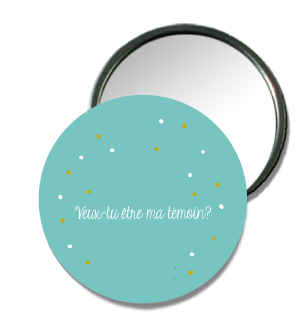 Bar à Badge Miroir