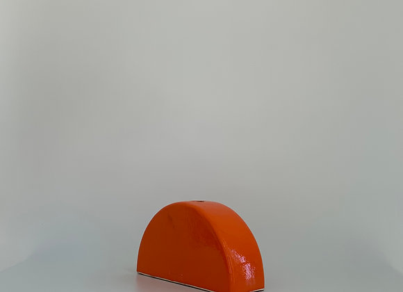 Half Moon Orange  / 10 cm tall / 20 cm diam