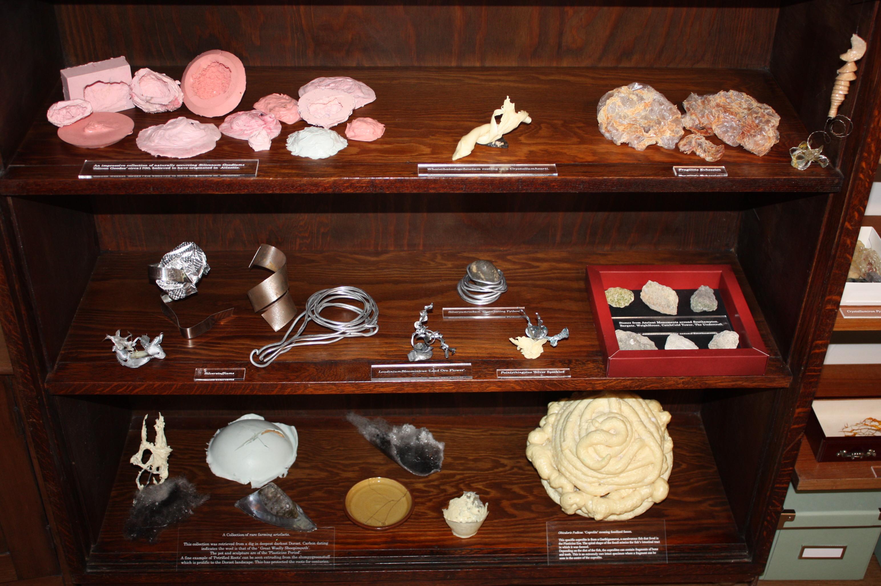 Many specimens.