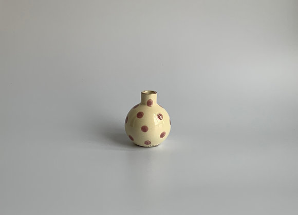NEO TOLTECA  lilac dots /  10 cm height / Ivory& lilac
