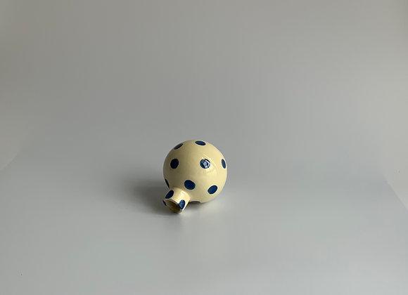 Neo tolteca blue dots /  10 cm height / Ivory & Indigo