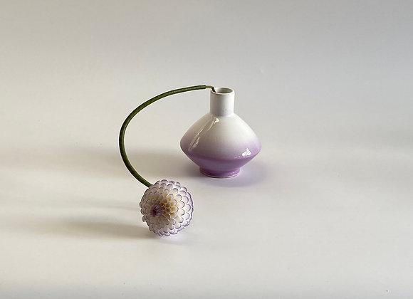 Smoked  Napoli / 15 cm tall  / Lilac & White