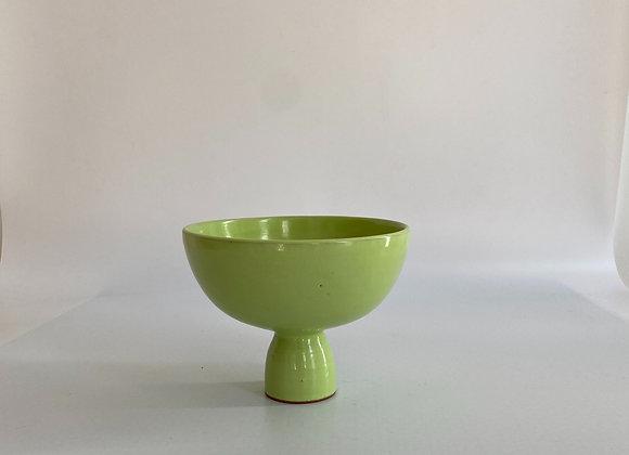 Caliz Cup   / 13 cm tall  / 15 cm diam /pistaccio