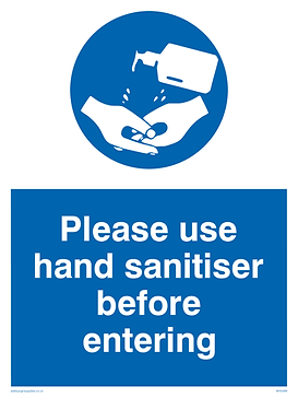 Hand sanitising sign.png