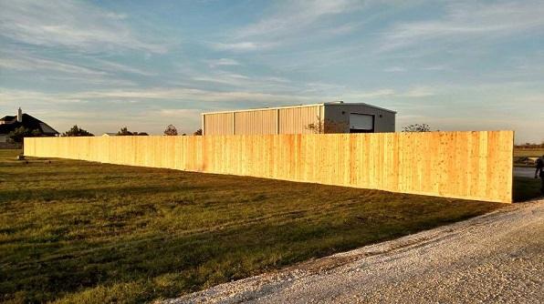 Wood fence 77449