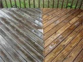 Pressured washed deck