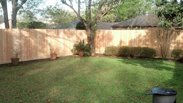 Residential fencing in Katy