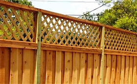 Lattice Topped Fence