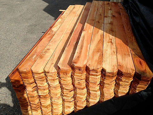 Quality Materials - Cedar Pickets