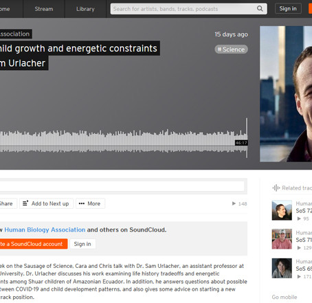 The Shuar Project Discussed on HBA's Sausage of Science Podcast