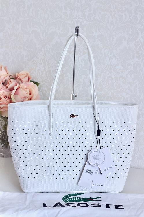 Bolsa Lacoste medium shopper branca #20-185
