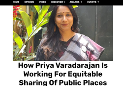 How Priya Varadarajan Is Working For Equitable Sharing Of Public Places