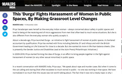 This 'Durga' Fights Harassment of Women in Public Spaces, By Making Grassroot Level Changes