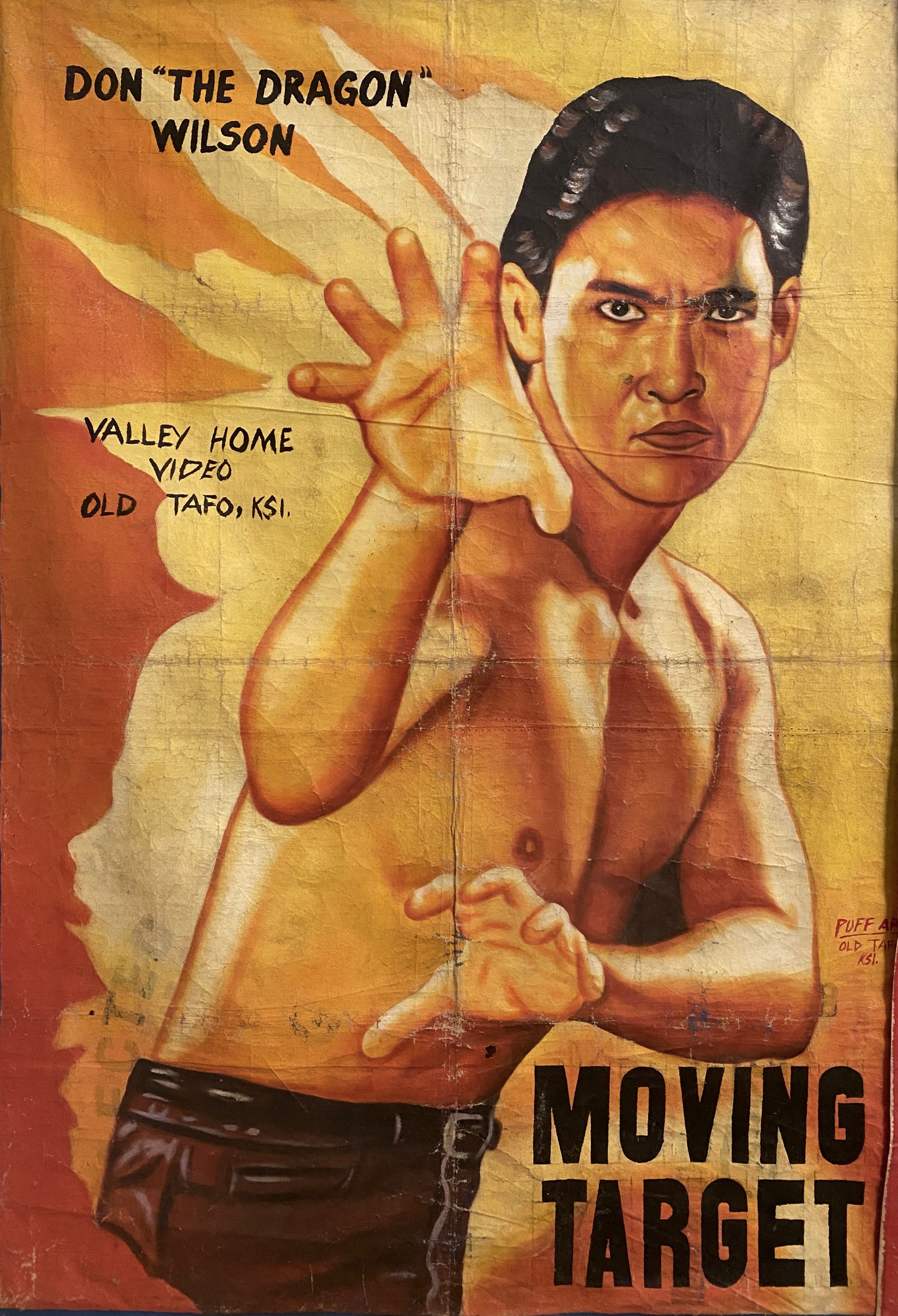 "Movie Poster ""Moving Target"", Ghana"