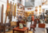 Interior view of Hemingway African Gallery