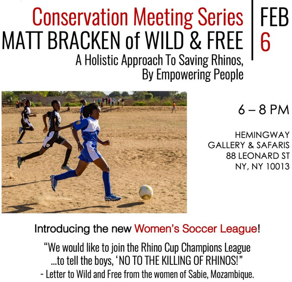 Conservation Meeting Series: MATT BRACKEN of Wild & Free - February 6, 2020