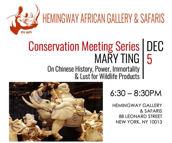 Conservation Meeting Series: MARY TING - Dec 5, 2019