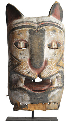 Songe Cat Mask, D R Congo