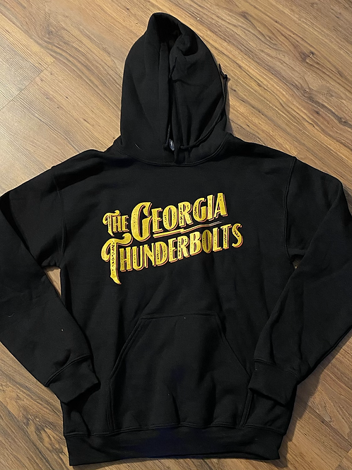 NEW! The Georgia Thunderbolts Black Hoody (front only)