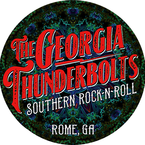 "4"" round Southern Rock Sticker"