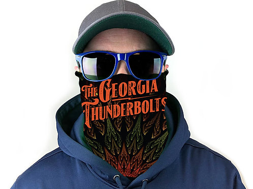 NEW! The Georgia Thunderbolts Logo Neck Gaiter (Pre-Order)